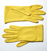 view Gloves worn by Phyllis Diller digital asset: Gloves, worn by Phyllis Diller in solo comedy routine