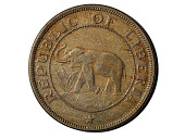 view 2 Cents, Liberia, 1941 digital asset: Coin, 2 Cents, Liberia, 1941