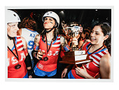 view Color photograph of the first Woman's Flat Track Derby World Cup, 2011 digital asset number 1