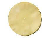 view gramophone recording digital asset: Celluloid recording disc