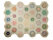 "view 1930 - 1932 Elizabeth B. Robinson's ""Grandmother's Flower Garden"" Quilt digital asset number 1"