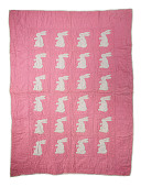 "view 1943 - 1944 Patricia Bartak Armato's ""Bunny Carriage Quilt"" digital asset number 1"