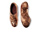 view Bronzed tap shoes worn as part of blackface minstrel costume digital asset number 1