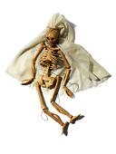 view Mrs. Bones, The Dancing Skeleton marionette made by Alvin Slover and Florence Slover King digital asset number 1