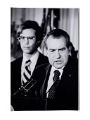 view Nixon during his farewell address digital asset: Photograph, Nixon during his farewell address