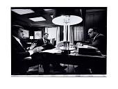view Nightly meeting in John D. Ehrlichman's office digital asset: Photograph, Nightly  meeting in John D. Ehrlichman's office