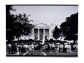 view Spectators gathered in Lafayette Square digital asset: Photograph, Spectators gathered in Lafayette Square