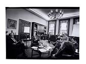 view meeting for President Nixon's advisors digital asset: Photograph, meeting for President Nixon's advisors