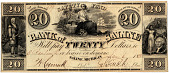 view 20 Dollars, Bank of Saline, Michigan, United States, 1838 digital asset number 1