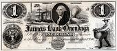view 1 Dollar, Farmers Bank of Onondaga, New York, United States, 1852 digital asset number 1