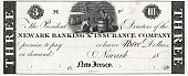 view 3 Dollars, Newark Banking & Insurance Company, New Jersey, United States, 1820 digital asset number 1