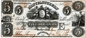 view 5 Dollars, Manufacturers' Bank, New Jersey, United States, 1838 digital asset number 1