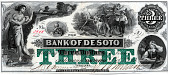 view 3 Dollars, Bank of DeSoto, Nebraska, United States, 1863 digital asset number 1