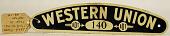 view Western Union cap badge #140 digital asset number 1