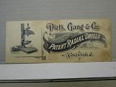 view Dietz, Gang Co., Manufacturers of Patent Radial Drills, Cincinnati, O. digital asset number 1