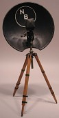 view NBC / RCA model parabolic condenser microphone on stand digital asset number 1