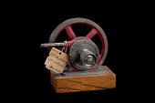 view Leuchsenring Rotary Water Engine, Patent Model digital asset: Model of Leuchsenring Rotary Steam Engine