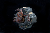 view Wright Rotary Steam Engine, Model digital asset: Model of Wright Rotary Steam Engine