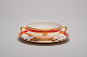 view Reagan State China Soup Bowl digital asset: Bowl and saucer, from Reagan service.