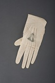 view Lady's glove with a portrait of Lafayette, The United States, 1824–25 digital asset number 1