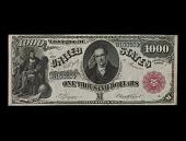 view 1,000 Dollars, Legal Tender Note, United States, 1880 digital asset number 1