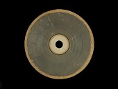 view Phonograph and Experimental Sound Recording, Wax Disc on Binder's Board digital asset number 1