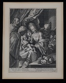 view Holy Family with Saint Anne and two angels digital asset number 1