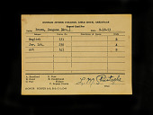 view Imogene Brooks Brown report card 1953 digital asset number 1