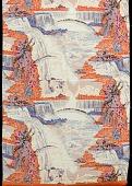 "view Scarf, ""Niagara Falls"" silk; Mallinson's National Parks series digital asset number 1"