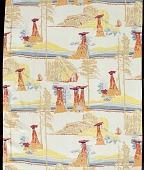 "view Scarf, ""Garden of the Gods"" design, Mallinson's National Park series digital asset number 1"