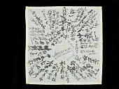view handkerchief, signed in black ink by detainees in Santa Fe New Mexico Camp, belonging to Sadaki Murayama, May of 1942 digital asset number 1
