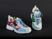 view sneakers digital asset: Tennis shoes customized for Dunia Elvir