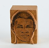 view Mina, Mina Negro digital asset: Mina, Mina Negro (replacement block - man w vertical line tattooes on side of forehead0