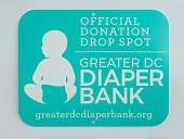 view Official Donation Drop Spot sign, Greater DC Diaper Bank digital asset number 1