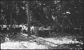 view Eating dinner camp meeting Winnebago 1913 digital asset: Eating dinner camp meeting Winnebago 1913