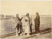 view Group of Native men at Fort Laramie for the treaty signing digital asset: [P15384] Oglala Lakota (Oglala Sioux) and Northern Tsitsistas/Suhtai (Cheyenne) men Fire Thunder, Man Afraid of His Horses, and Pipe gathered at Fort Laramie for the treaty signing