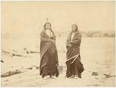 view Sicangu Lakota (Brulé Sioux) men at Fort Laramie for the 1868 treaty signing digital asset: [P15379] Sicangu Lakota (Brulé Sioux) men Spotted Tail and Fast Bear at Fort Laramie for the 1868 treaty signing
