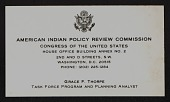 view Washington, DC: Working for Senator James Abourezk, American Indian Policy Review Commission digital asset: Washington, DC: Working for Senator James Abourezk, American Indian Policy Review Commission