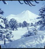 view Llaima volcano in winter digital asset: Llaima volcano in winter