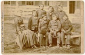 view Carlisle Indian School students and teacher digital asset: Carlisle Indian School students and teacher
