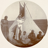 view Septima Koehler with Hunkpapa Lakota Women and Children digital asset: Septima Koehler with Hunkpapa Lakota Women and Children