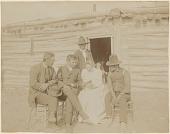 view Septima Koehler Sitting with Hunkpapa Lakota Men digital asset: Septima Koehler Sitting with Hunkpapa Lakota Men