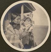 view Hunkpapa Lakota Woman and Baby at St. Elizabeth's Mission School digital asset: Hunkpapa Lakota Woman and Baby at St. Elizabeth's Mission School