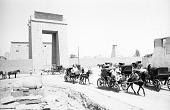 view Horse-drawn carriages. Karnak, Egypt digital asset: Horse-drawn carriages. Karnak, Egypt