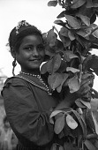 "view Girl holding ""ful"", a bean plant. Kurat, near Mit Rahina, Egypt digital asset: Girl holding ""ful"", a bean plant. Kurat, near Mit Rahina, Egypt"