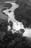 view Hydroelectrical power plant and waterfall on Inkisi River, Zongo Falls, Congo (Democratic Republic) digital asset: Hydroelectrical power plant and waterfall on Inkisi River, Zongo Falls, Congo (Democratic Republic)