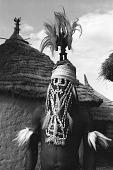 view Masked performer wearing vertical Chi wara headdress, Bougouni village, Mali digital asset: Masked performer wearing vertical Chi wara headdress, Bougouni village, Mali