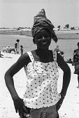 view Woman on riverbank, Goundam, Mali digital asset: Woman on riverbank, Goundam, Mali