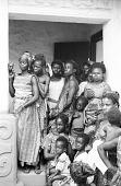 view People in shrine house courtyard, Besease, Ghana digital asset: People in shrine house courtyard, Besease, Ghana