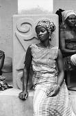 view Woman in shrine house courtyard, Besease, Ghana digital asset: Woman in shrine house courtyard, Besease, Ghana